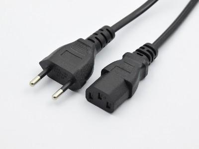 瑞士两插+8字尾电源线